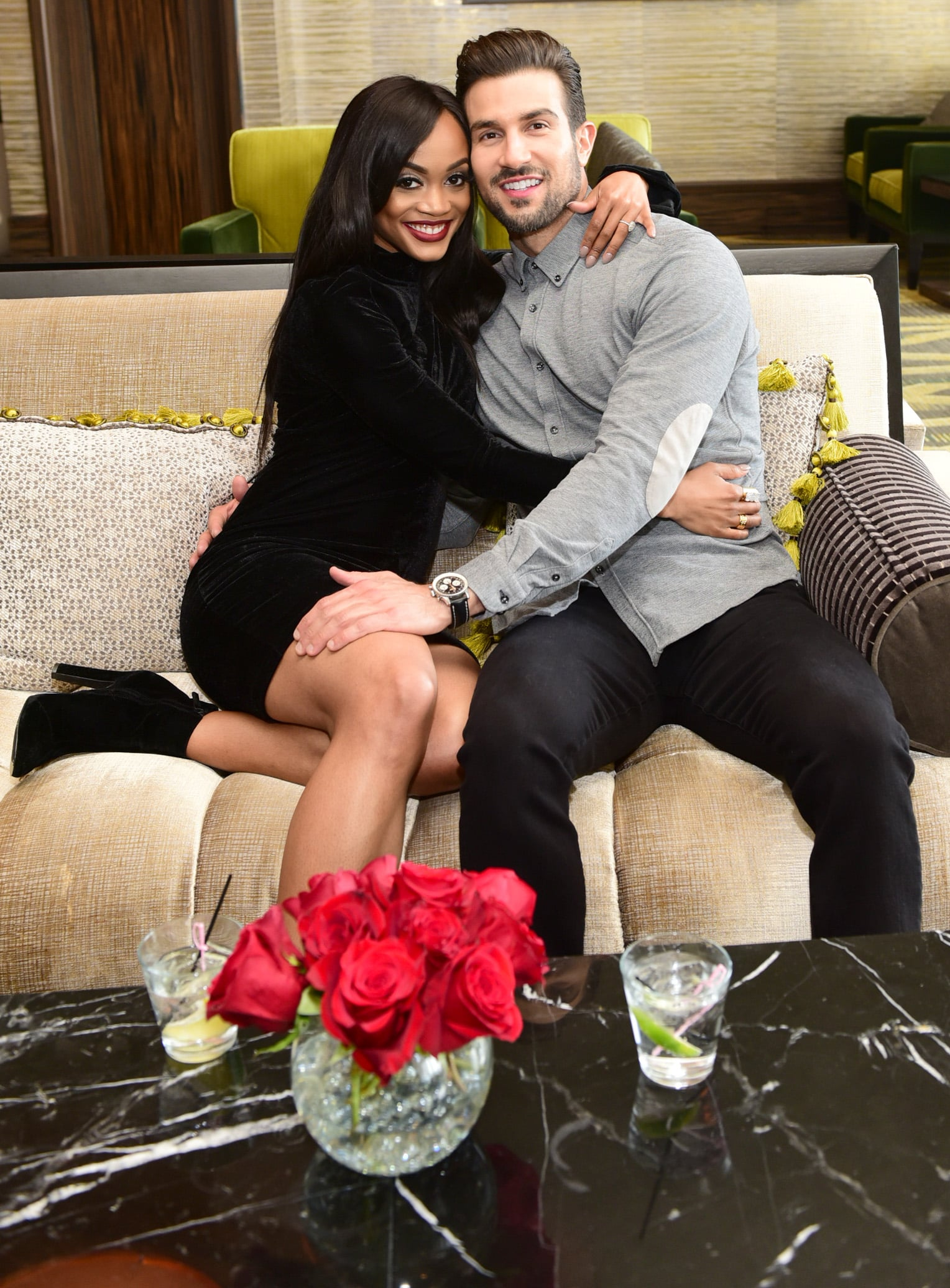 PHILADELPHIA, PA - APRIL 21:  The Bachelorette's Rachel Lindsay celebrates Birthday with fiance Bryan Abasolo at SugarHouse Casino on April 21, 2018 in Philadelphia, Pennsylvania.  (Photo by Lisa Lake/Getty Images for SugarHouse Casino )