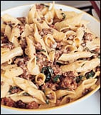 Today's Special: Pasta with Sausage, Basil and Mustard