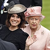She clearly isn't shy in front of the Queen