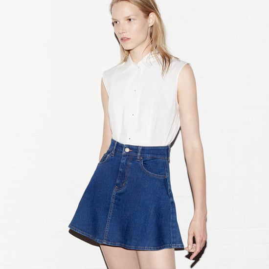 Zara May 2013 Look Book: Denim Circle Skirts, Cobalt, Orange