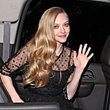 Amanda Seyfried changed into a sheer black dress after the SAG Awards in LA.