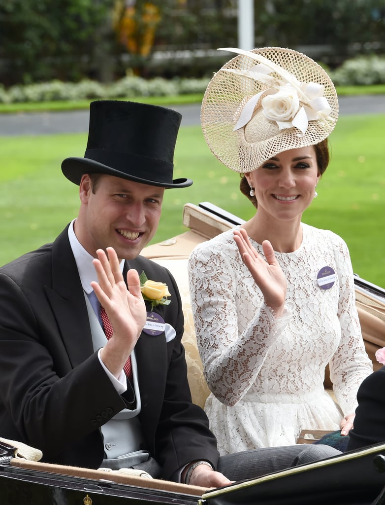 The couple beamed upon arriving for the second day of the Royal Ascot in Ascot, England, in June 2016.