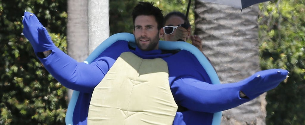 Adam Levine Spends a Totally Normal Sunday Dressed as a Giant Turtle