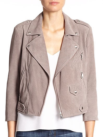 Rebecca Minkoff Wes Perforated Suede Moto Jacket