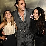 In August 2011, Zoë and Lisa couldn't contain their laughter when they attended the premiere of Jason's film Conan the Barbarian in LA.