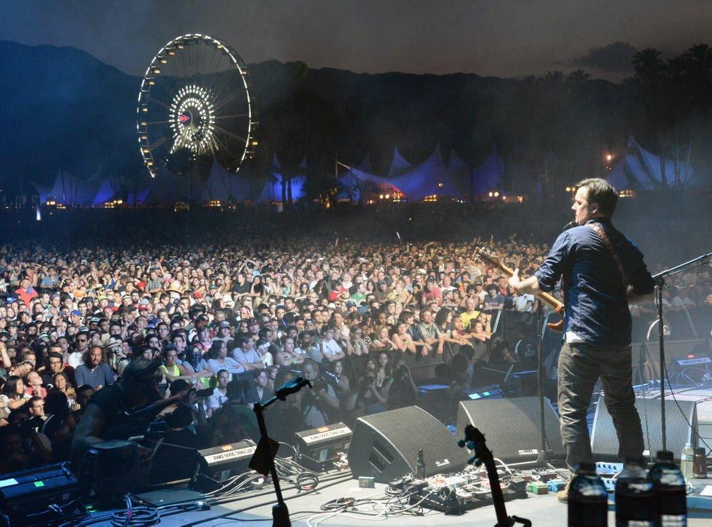 Isaac Brock from Modest Mouse faced a large, cheering crowd on Friday night.