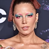 Halsey's Groovy Floral Gown and Butterfly Rings at the AMAs