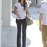 Sofia Vergara wore a white t-shirt out in LA.