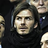 David Beckham Gets Back on the Field Following a Weekend in the Stands