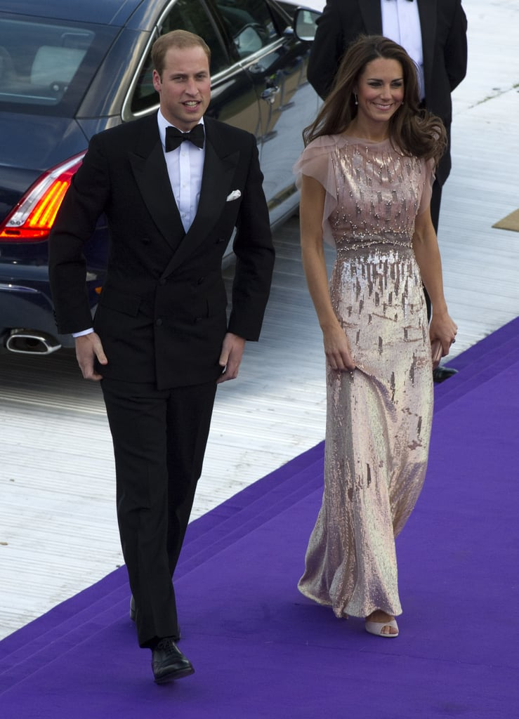 Kate Middleton shimmered in a pink frock when she attended the June 2011 benefit for the Absolute Return for Kids nonprofit with Prince William in London.