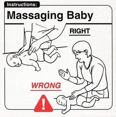 Massaging Baby