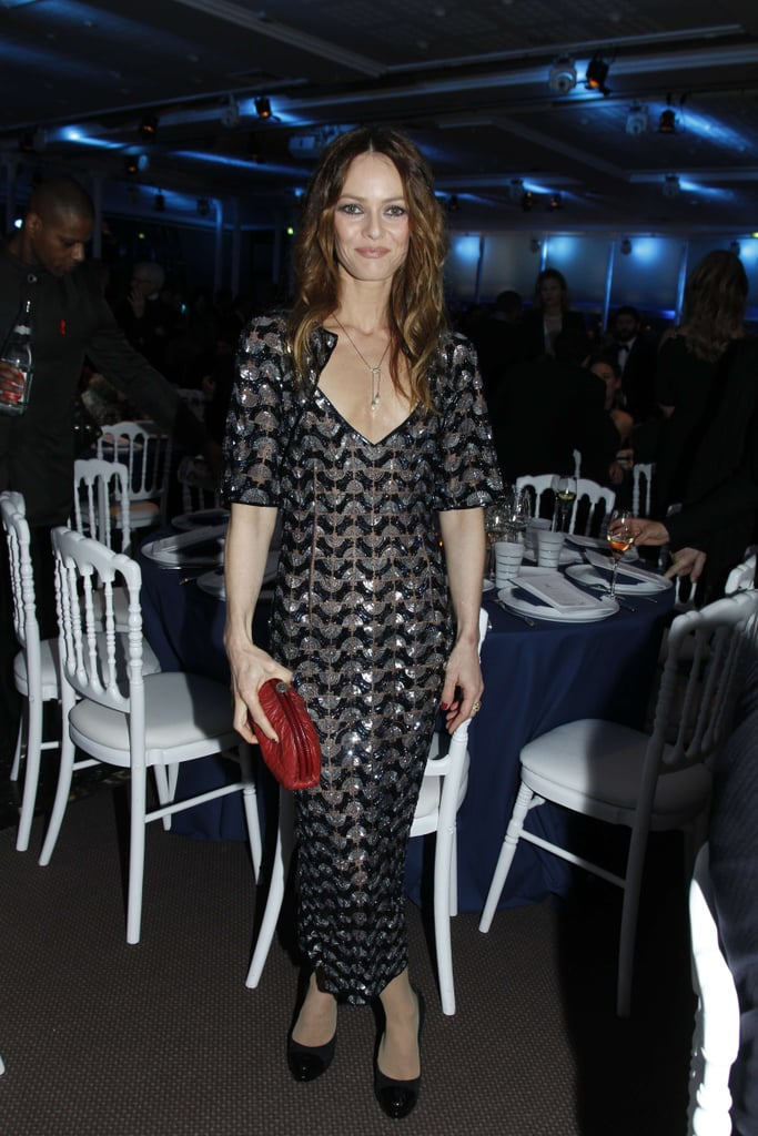 Vanessa Paradis made the rounds at the Sidaction gala.