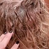 Kristen Bell's Daughter's Hair Covered in Vaseline
