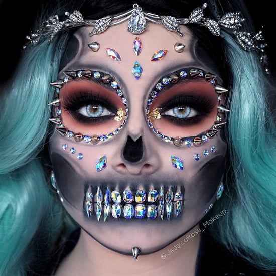 Rhinestone Skeleton Halloween Ideas