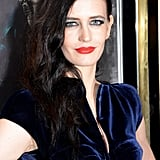 Eva Green wore a dark blue dress to the event.