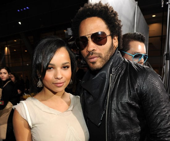 Slide Photo of Zoe and Lenny Kravitz at Independent Spirit Awards