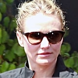 Cameron Diaz wore sunglasses.