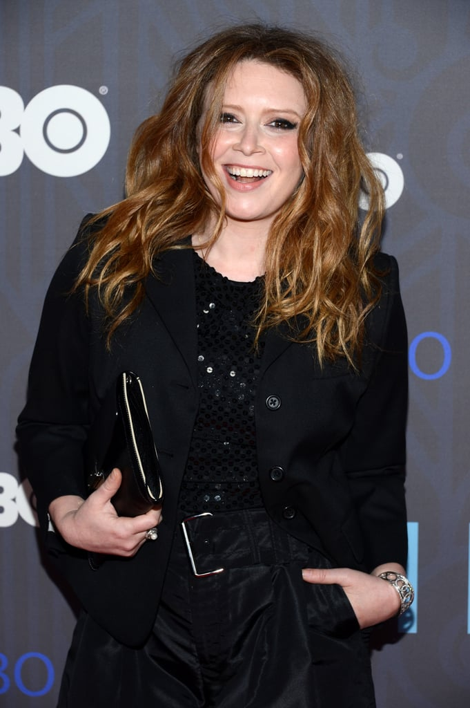 Natasha Lyonne smiled for the cameras.