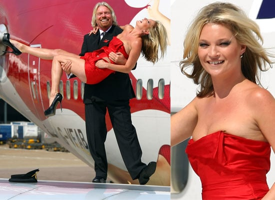 Photos Of Kate Moss and Sir Richard Branson Celebrating Virgin Atlantic's 25th Anniversary
