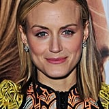 Taylor Schilling smiled at the premiere of The Lucky One in London.