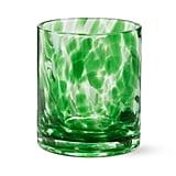 Green Confetti Double Old-Fashioned Glass, $16