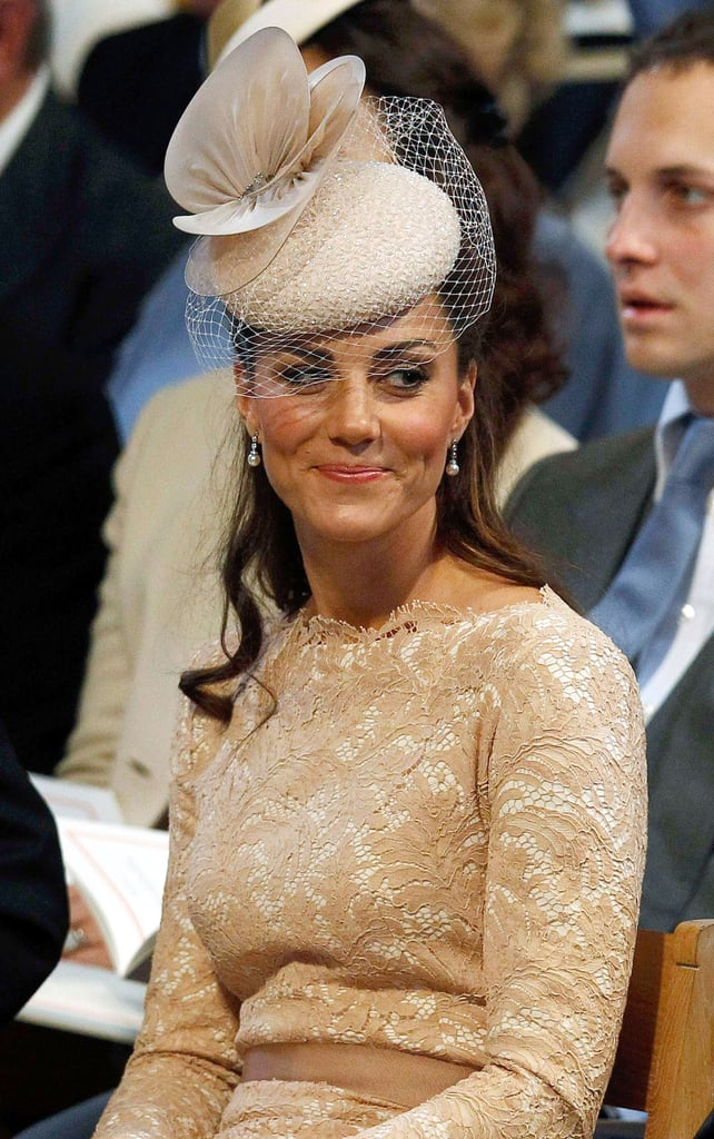 Kate smiled during the Jubilee thanksgiving service.