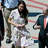 Kate Middleton wore a floral dress in Australia.