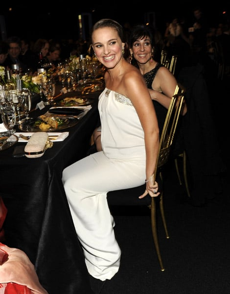 Natalie Portman's Azzaro gown looked just a good seated. And look at that adorable bump!
