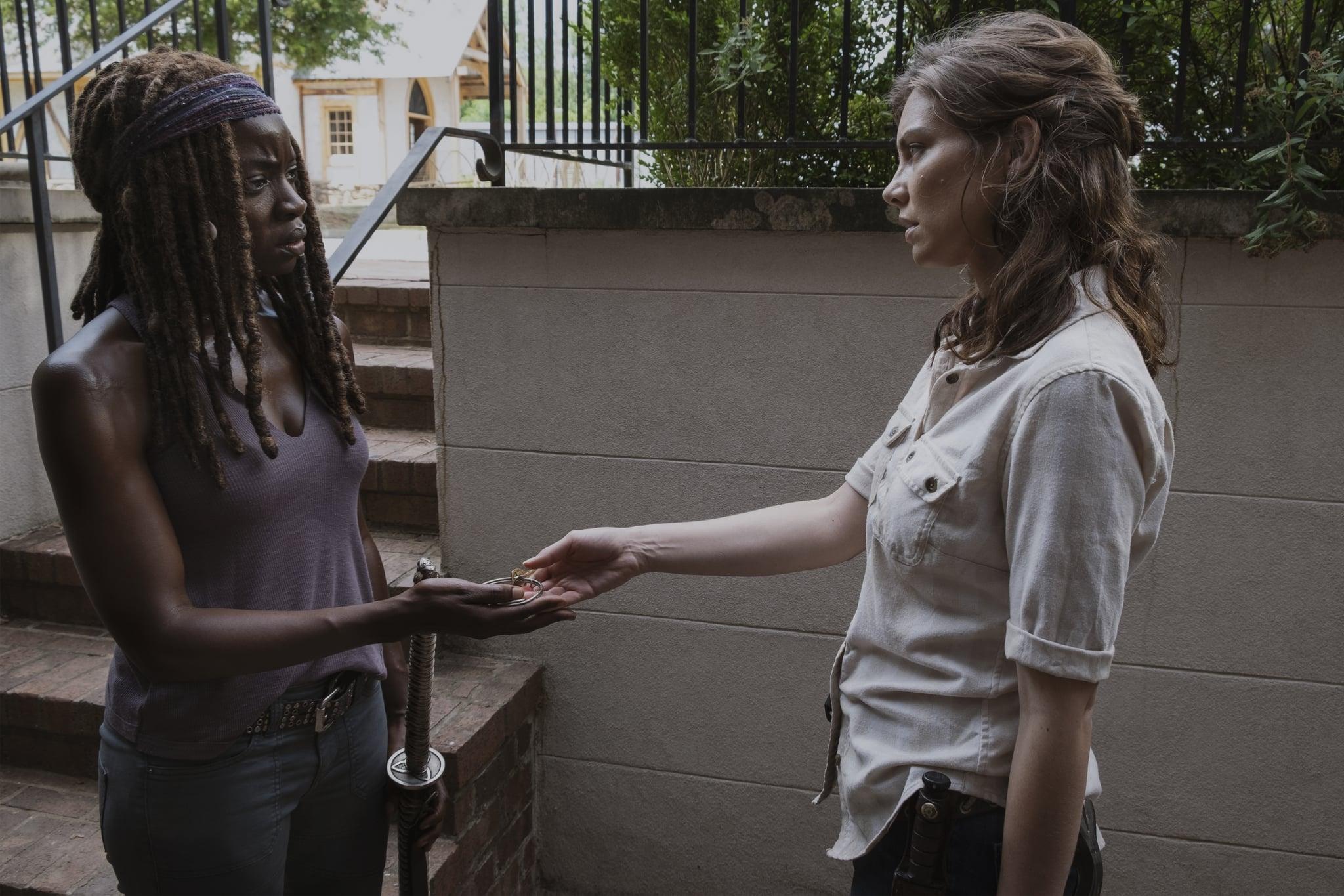 Lauren Cohan as Maggie Rhee, Danai Gurira as Michonne - The Walking Dead _ Season 9, Episode 5 - Photo Credit: Gene Page/AMC