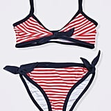For Little and Big Girls: Baby CZ Striped Bikini