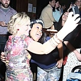 Amy Poehler and Dominique Fishback got snap happy during a performance of These Girls in NYC.