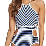 Jessica Simpson Swimwear Maritime High Neck Monokini ($108)