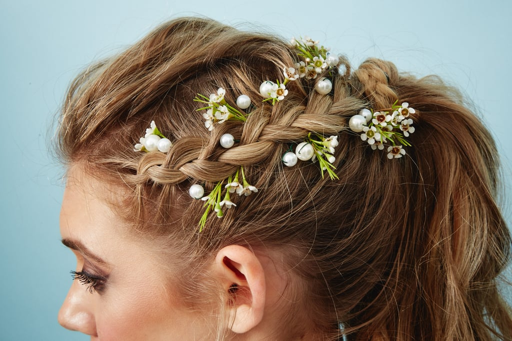 The Flower Piece: Pearl Hair Pins With Wax Flower Accents