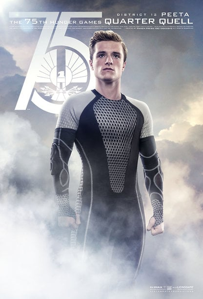 Josh Hutcherson as Peeta, Katniss's fellow District 12 victor in the Quarter Quell.