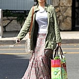 Jennifer Lawrence stopped by Whole Foods and William-Sonoma in LA.