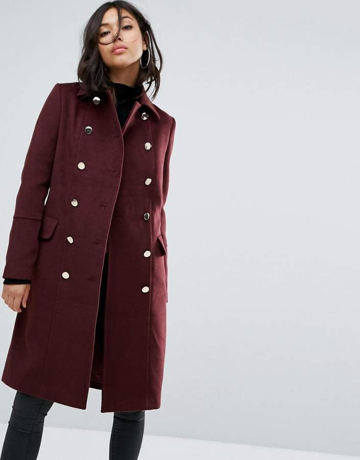 Boohoo Double Breasted Coat ($79)