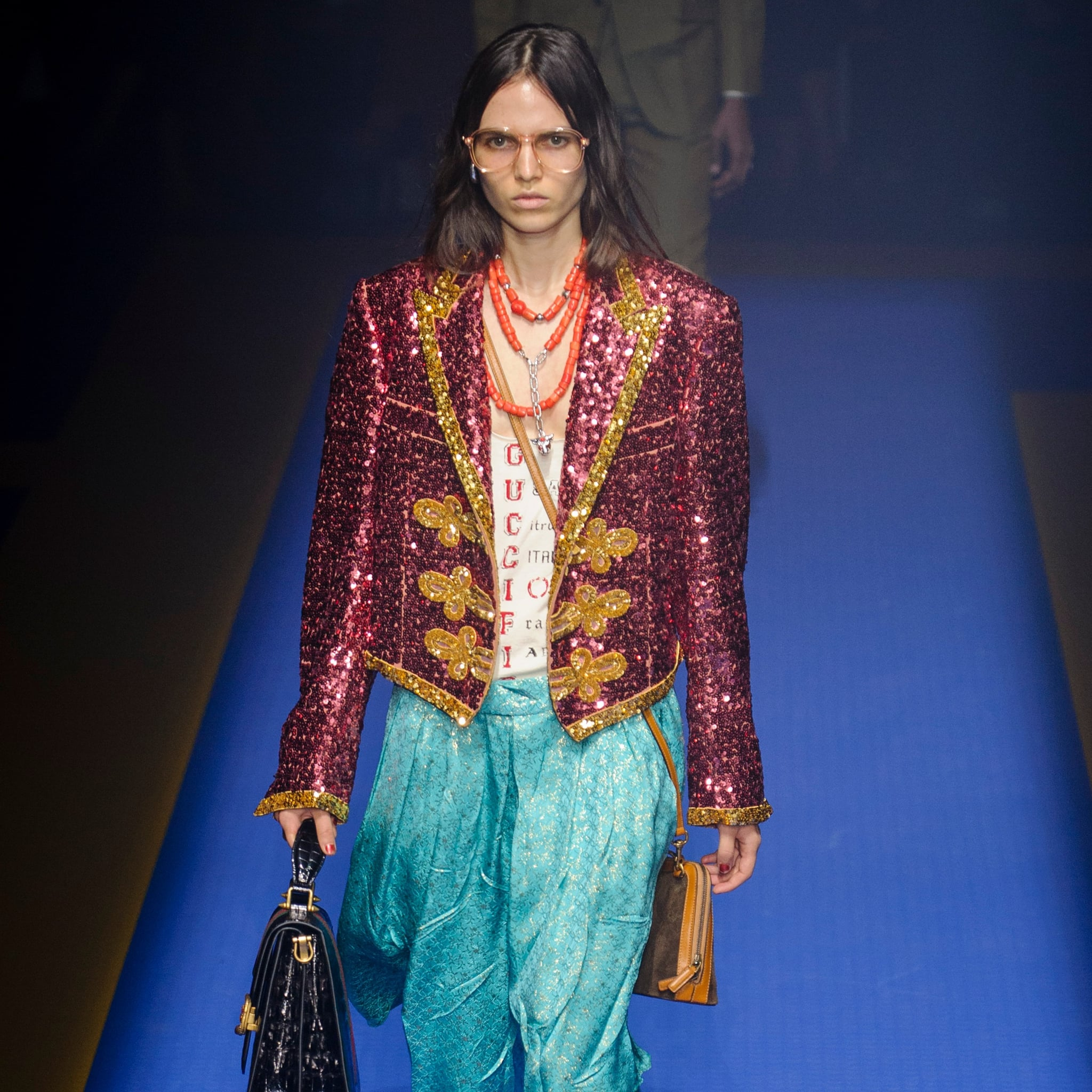2be41a0a0 Gucci Spring Summer 2018 Collection Pictures | POPSUGAR Fashion ...