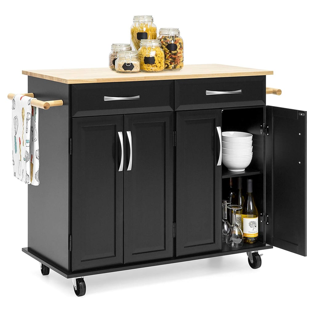 best choice products portable kitchen island cart | the