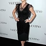 Jessica Stroup channeled ladylike glamour in a lacy black sheath.