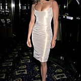 A body-conscious, pearly sheath at the 1998 Out of Sight premiere.