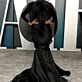 Halima Aden at the Vanity Fair Oscars Afterparty 2020