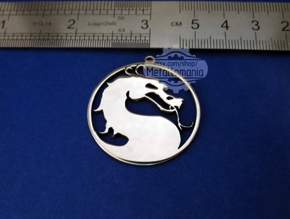 Silver Mortal Kombat Necklace