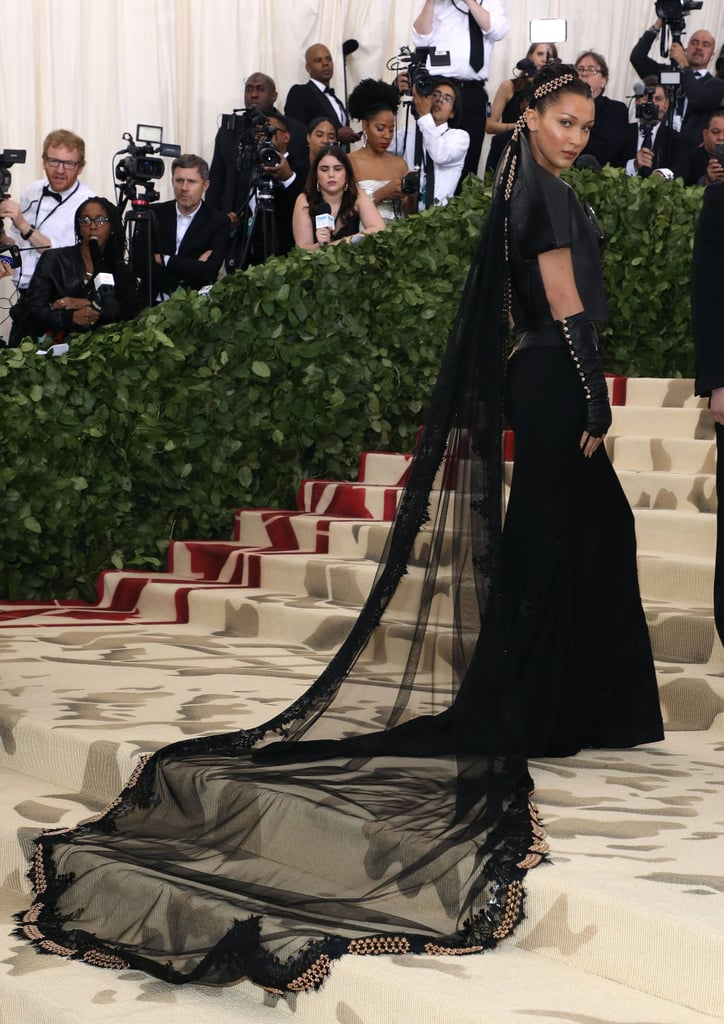 Bella Hadid Wore a 4-Kilo Veil to the Met Gala