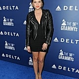 Pretty Little Liars star Ashley Benson wore leather at the Delta party.