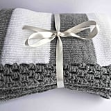 Gray and White Baby Blanket