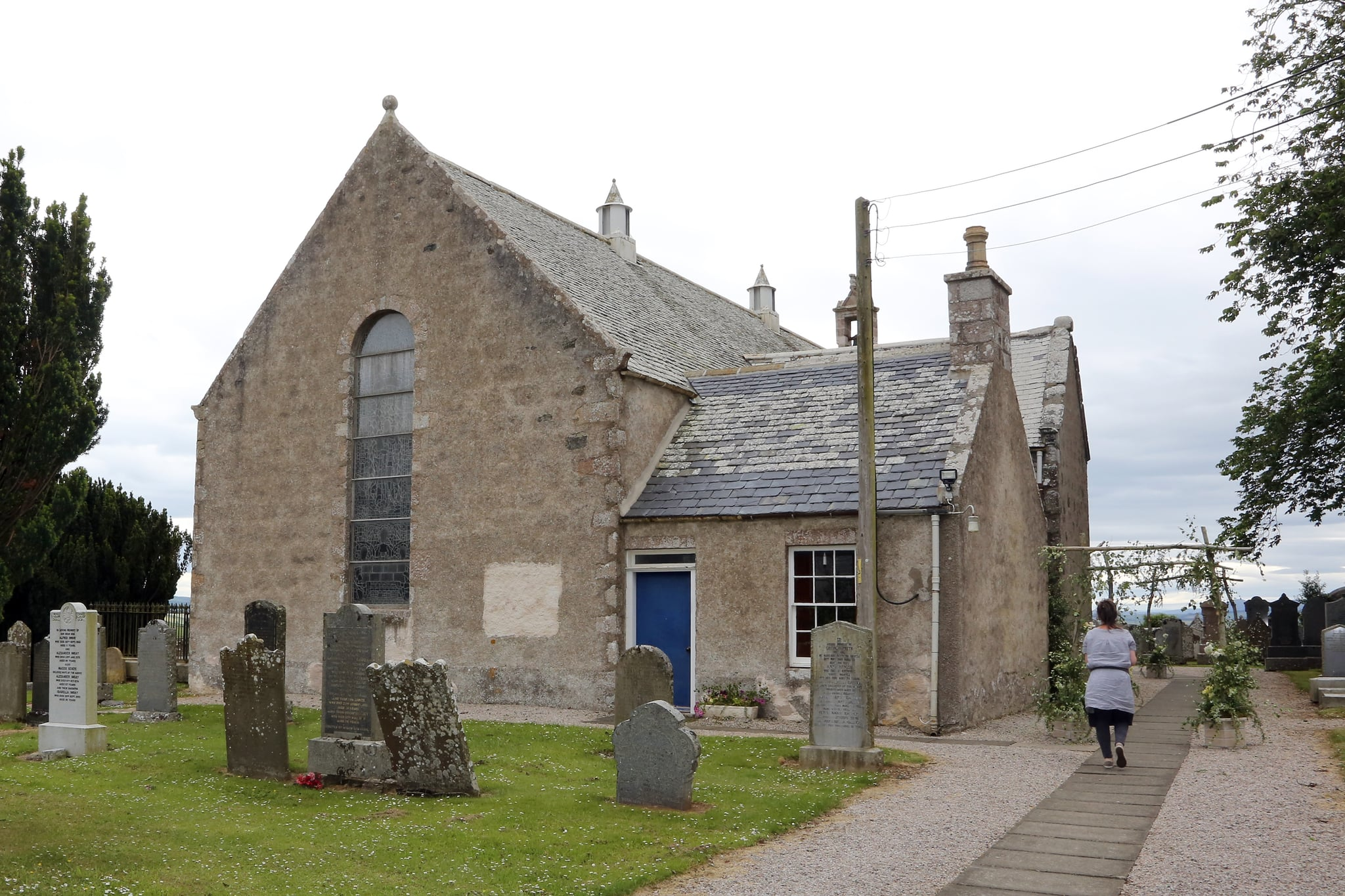 ABERDEEN, SCOTLAND - JUNE 23: Rayne Church in Kirkton on Rayne venue for the wedding of Kit Harrington and Rose Leslie on June 23, 2018 in Aberdeen, Scotland. (Photo by Mark Milan/GC Images)