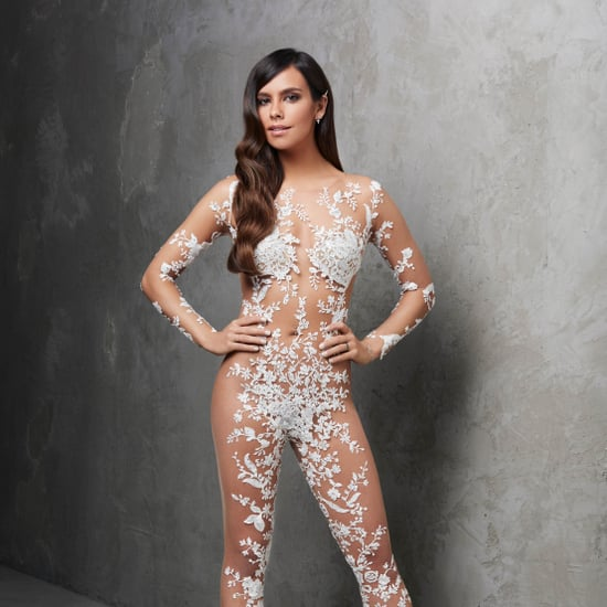 Pronovias Sheer Bridal Jumpsuit