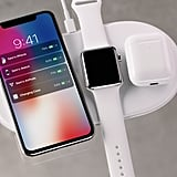 Apple introduced Air Power, a wireless charging pod for the iPhone X, iPhone 8 and 8 Plus, Apple Watch Series 3, and AirPods.