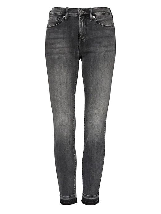 Skinny Black Jean with Frayed Hem