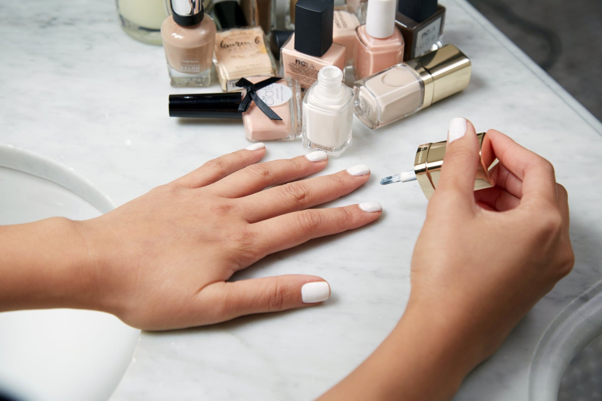 abd68fcce1 How to Keep Pale Manicures Looking Clean | POPSUGAR Beauty